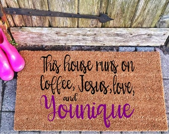 front door mat custom welcome mat younique swag coir outdoor