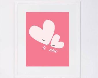 Te Amo Baby Mama Love Pink