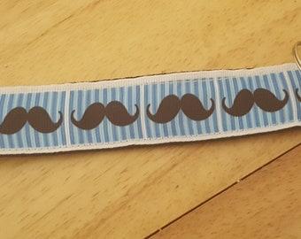 Mustache Wristlet Key chain!