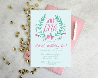 PRINTABLE Birthday Party Invitation | Wild One