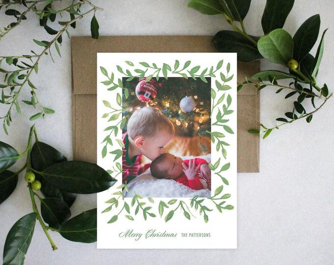 PRINTABLE Holiday Cards | Garland Greenery