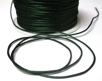 5 m dark green rat tail 1 mm
