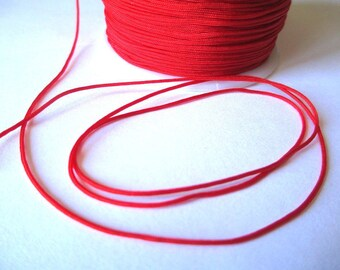 5 m wire braided red nylon 1 mm