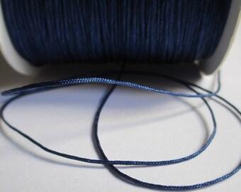 10 m dark blue nylon thread woven 0.8 mm