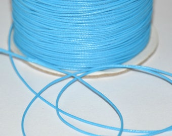 10 meters wire 0.5 mm waxed blue polyester cord
