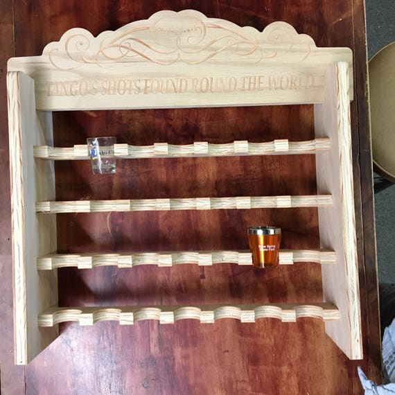 Personalized Shot Glass Display Case