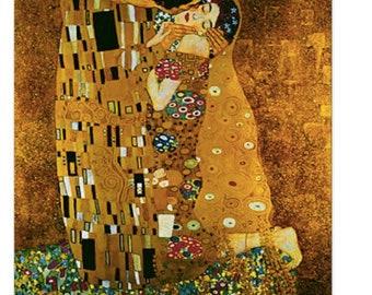 Gustav Klimt, The Kiss, Greeting Card, Blank Card, Gift for Women, Gift for Men, Note Cards