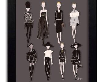 LANVIN - Fashion Illustration Print Fashion Print Fashion Art Fashion Wall Art Fashion Poster Fashion Sketch Illustration Art Print