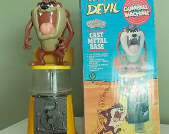 Tasmanian Devil Gumball Machine 1989 *TAZ* Hard to Find