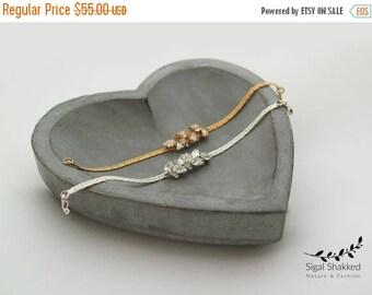 Crystal Bracelet Gold Bridal Bracelet Crystal Bridal Bracelet Swarovski Bracelet Bridesmaids Gold Bracelet Gift For Her Bridesmaid gift