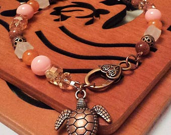 Turtle Anklet, Ankle Bracelet,  Fashion Jewelry,  Beach Jewelry,  Summer Jewelry,  Hawaiian,  Tropical,  Handmade,  Beautiful,  Unique.