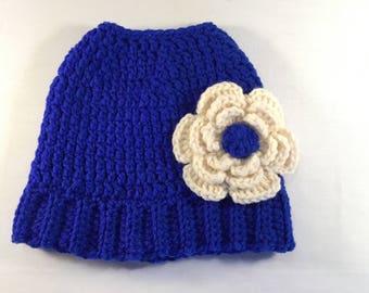Crochet Messy Bun / Pony Tail Hat