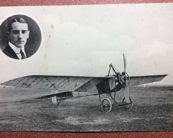 Ultra rare! Antique Imperial Russia Aviation photo postcard 1905 - 1917 Monoplane Sveshnikov Russian airplanes. Edit. Typography Kulzhenko