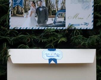 Map of wedding cards, in mind Vintage travel