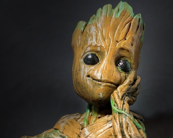 Baby Groot Planter | 3D Printed Planter | Guardians of the Galaxy Groot | Baby Groot