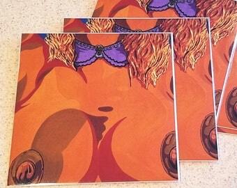 """Collar"" 8x8in Art Print [open edition]"