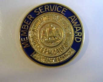 Vintage AAA Member Service Award Lapel Pin Tie Tac Auto Club Of Sother California BALLOU REG'D  *Free Shipping*