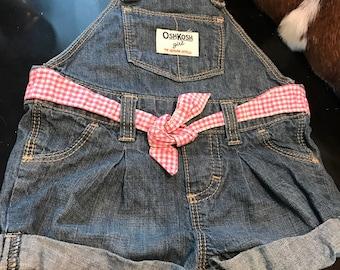 Oshkosh vestnak 9 months overall bib Daisy Duke shorts all's