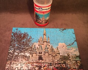 Vintage Walt Disney World Jigsaw Puzzle in can