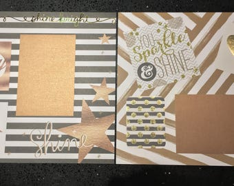 Bronze Sparkle and Shine Set (2 pages)