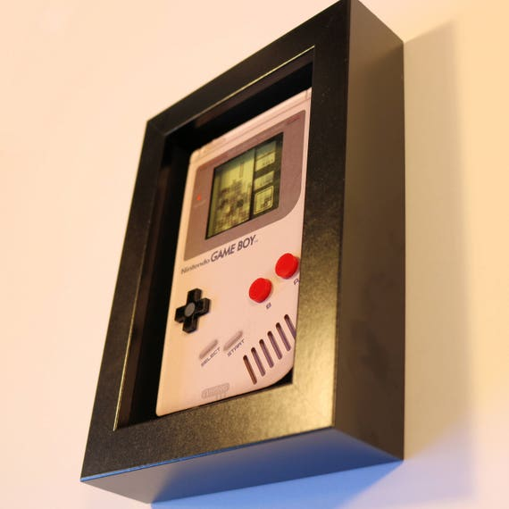 Tetris Game Boy Shadowbox Art Sculpture Diorama 4x6 Nintendo