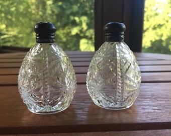 Vintage Glass Salt & Pepper Shaker