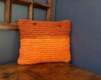 Hand knotted cushion