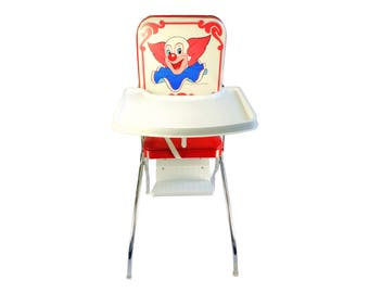 Bozo the Clown Baby High Chair Larry Harmon by Comfort Lines Vintage Rare WGN