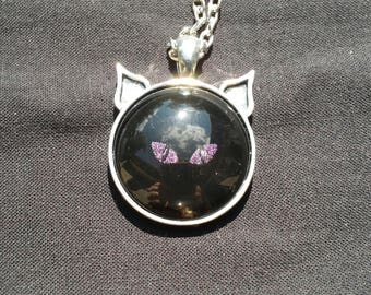 Cat Eye Necklace (Pink)