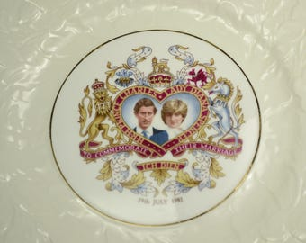 Princess Diana and Charles Marriage Commemoration Plate, 29th July 1981—Original