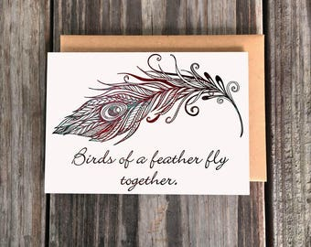 Birds of a feather fly together Art Greeting Card