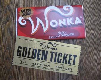 2005 Willy Wonka Replica Wonka ( Nutty Crunch Surprise ) Bar & Ticket