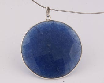 925 sterling silver lapies gemstone pendent