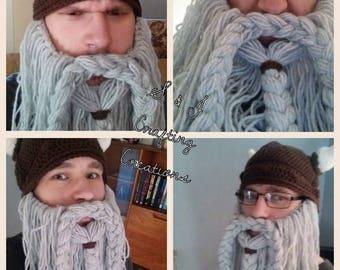 Viking Hat with Viking or Dwarven Beard