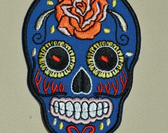 patch skull embroidered