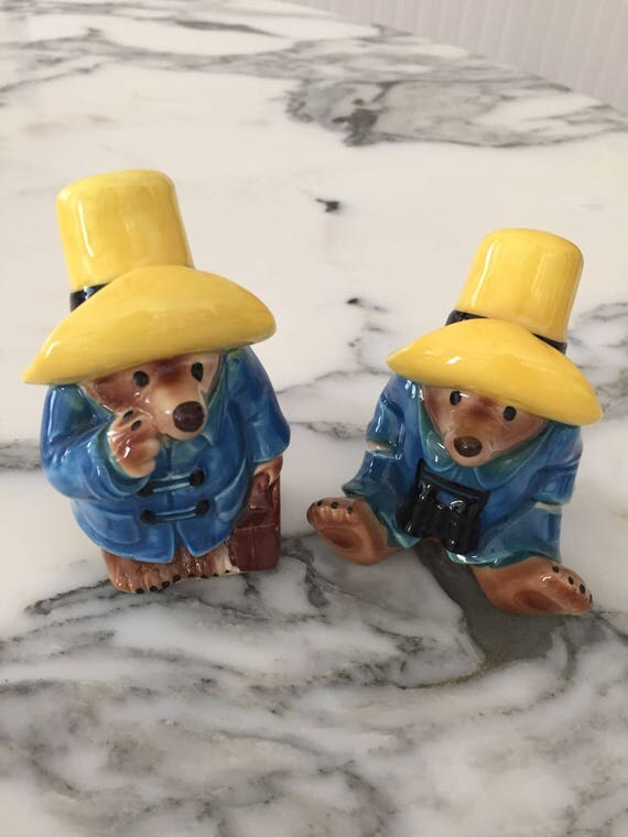 FREE SHIPPING - Paddington Bear- Salt and Pepper