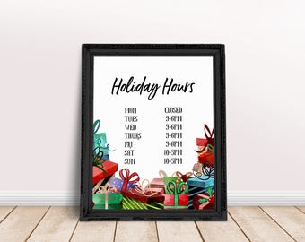 Business Hours | Boutique Hours, Business Hours Sign, Store Hours Business, Store Hours, Store Hours Decal, Work Hours, Holiday Hours