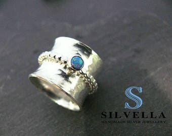 Spinner Ring - Anxiety Jewellery - Fidget Ring - Sterling Silver Spinner Ring