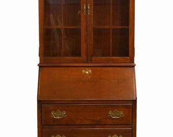 JASPER CABINET Colonial Cherry Secretary Desk W/ Hutch Model 864 5352