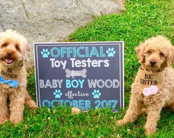 Dog Pregnancy Announcement/Pet Pregnancy Announcement/Pregnancy Announcement/Pet Pregnancy Reveal/Pregnancy Reveal/Getting Me a Human Sign