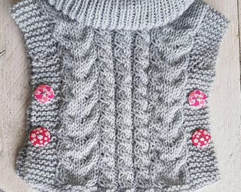 Baby cable poncho size 68