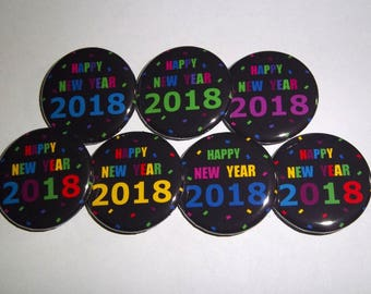 Happy New Year 2018 1.25 Inch PinBack Buttons