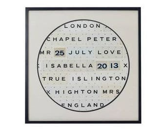 Personalised Vintage Playing Card Frame by Vintage Playing Cards FREE UK SHIPPING!