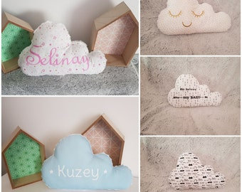 cloud pillow face pillow to personalize, initials, pillow, kids room pillow cushion pillow