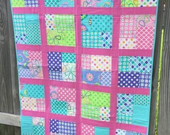 Girls Crib Quilt
