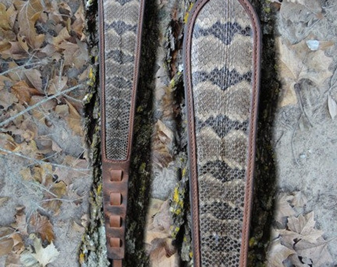 Rattlesnake Rifle Sling, Snake Skin, Buffalo Rattlesnake Rifle Sling, Timber Rattler