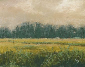 Goldenrod -  - original pastel landscape by Michael Scotko