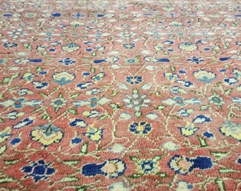 "Rare Antique Breathtaking 6'4""×9'7"" Wool Pile,Natural Dyes Armenian Hereke Rug"