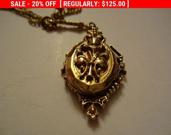 Additional 10 Dollar Coupon Inside Locket Chain Necklace by ART