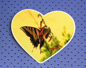 Western Tiger Swallowtail Heart Bumper Sticker